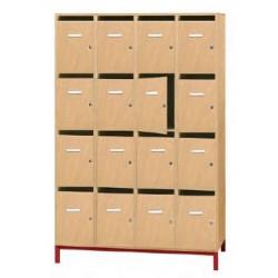 Visuel du meuble enseignant 16 casiers boîte aux lettres - Leader Equipements