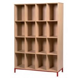 Visuel du meuble à 16 casiers ouverts - Leader Equipements