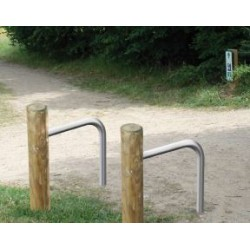 Visuel du arceau et rondin support vélos - Leader Equipements