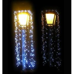 Décoration et illumination de Noël : pluie d'étoiles pour lampadaire