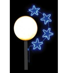 Arc étoilé - Illumination de Noël pour lampadaire