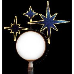 Décoration et illumination de Noël : 3 étoiles