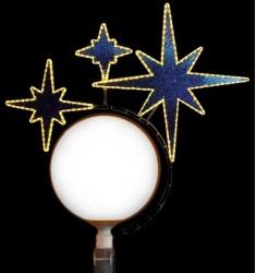 Triple étoile - Illumination de Noël pour candélabre