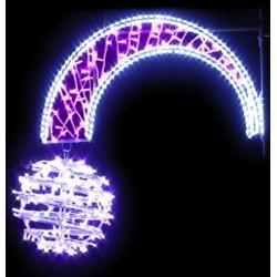 Décoration et illumination de Noël : boule filante