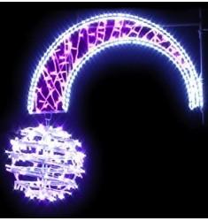 Boule filante - Décoration de Noël pour réverbère