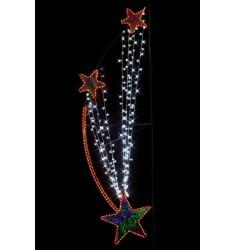 Illumination feu d'étoiles - Équipement de Noël pour collectivités