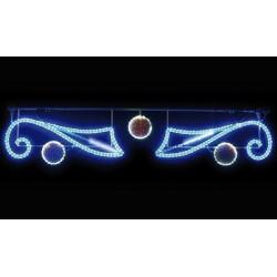 Décoration et illumination de Noël : traverses de boules lumineuses