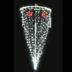 Décoration et illumination de Noël : cône de lumière