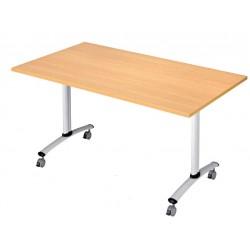 Table rectangulaire basculante pour collectivités