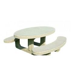 Table pique-nique en béton armé Olga