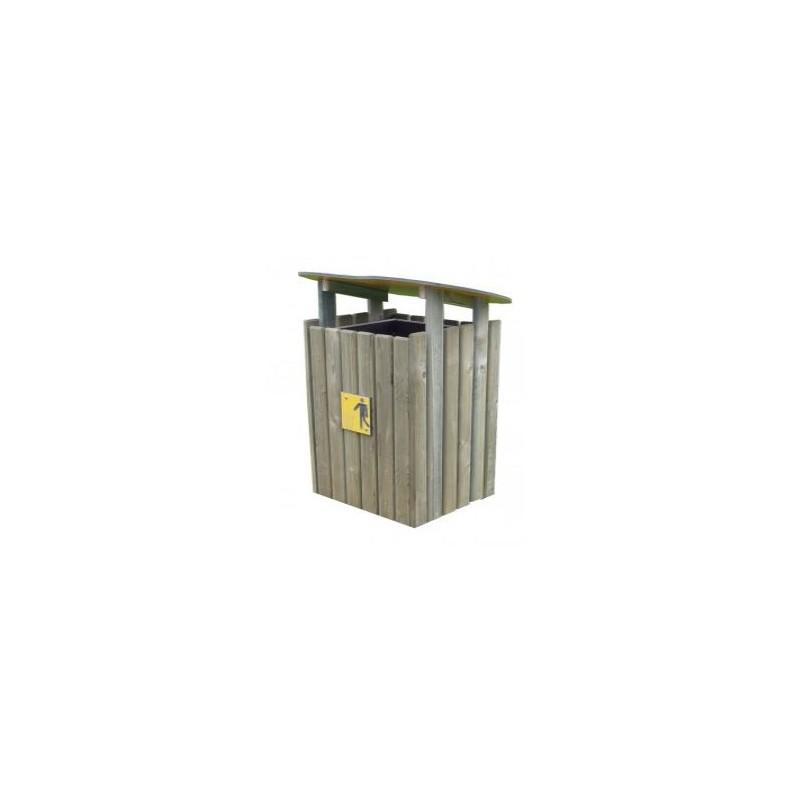 corbeille ext rieure en bois forest poubelle urbaine en bois. Black Bedroom Furniture Sets. Home Design Ideas