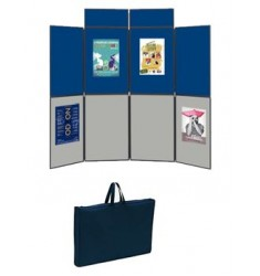 Panneau d'exposition pliant et transportable