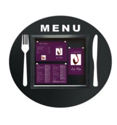 Vitrine d'affichage pour restaurant