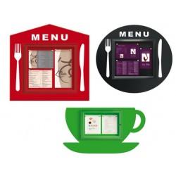 Panneau d'affichage pour menu de restaurant