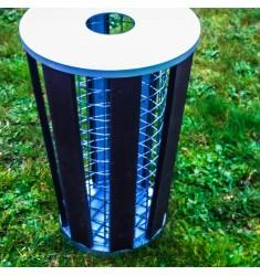 Poubelle design Dijon en plastique recyclé