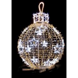 Boule géante de Noël en 3D