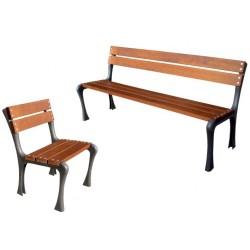 Banc urbain ou chaise extérieure Retro design