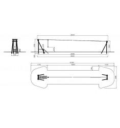 Tyrolienne bois 20 m avec plateforme