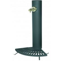 Fontaine à bouton poussoir distributrice d'eau potable modèle Vendôme 1/4 de grille - Leader Equipements