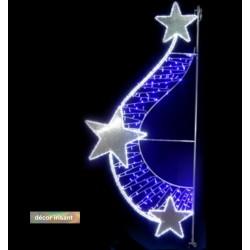 Swing étoilé irisant - Décoration de Noël pour réverbère