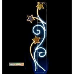Visuel Rinceaux d'étoiles irisant - Décoration de Noël pour réverbère - Leader Equipements