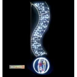 Visuel de la décoration de Noël pour lampadaire - Lumière boule irisant - Leader Equipements