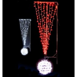 Visuel de la Décoration de Noël pour lampadaire exclamation lumineuse - Leader Equipements