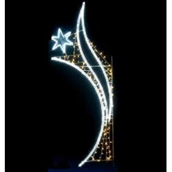 Visuel naissance d'étoile lumineuse - Décoration de Noël pour lampadaire - Leader Equipements