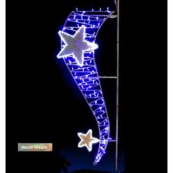 Visuel décor lumineux irisant Tourbillon étoilé - Décoration de Noël pour candélabre - Leader Equipements