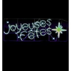 Visuel du décor de rue à texte : la traverse voûte Joyeuses Fêtes pour communes - Leader Equipements