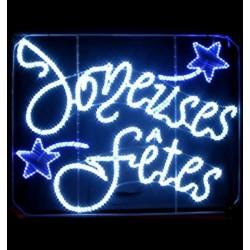Décoration et illumination de Noël : guirlande Joyeuses Fêtes