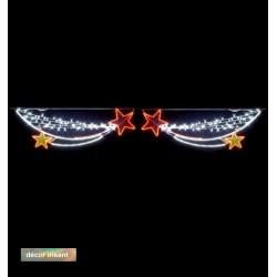 Décoration et illumination de Noël : traversées d'étoiles filantes
