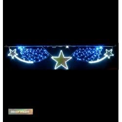 Visuel du décor : Mer étoilée scintillante à LED irisée pour collectivités - Leader Equipements