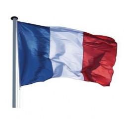 Visuel du pavillon tricolore français à hisser sur mât de pavoisement - Leader Equipements