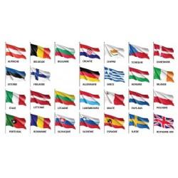 Visuel des Pavillons des pays de l'Union Européenne à hisser - Leader Equipements