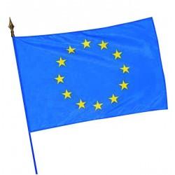 Visuel du drapeau étendard européen sur hampe en bois - Leader Equipements