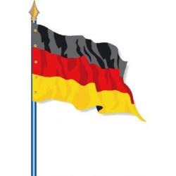 Visuel du Drapeau officiel de l'Allemagne cloué sur hampe - Leader Equipements