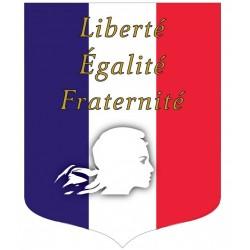 Écusson porte-drapeaux Tricolore éco + devise - spécial Loi Peillon