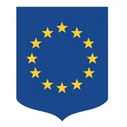 Visuel du porte drapeaux aux couleurs de l'Union Européenne - Leader Equipements