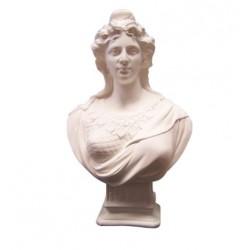 Visuel du buste de Marianne - modèle DORIOT - en staff blanc - Leader Equipements