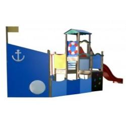 Visuel de la structure de jeu de plein air Geronimo - pour enfants de 3 à 8 ans - Leader Equipements