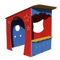 Théâtre de Marionnettes - cabane extérieure pour enfants - Leader Equipements