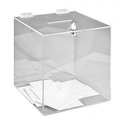 Visuel de l'urne pour élection avec serrure - 500 bulletins - 25 x 25 x 25 cm - Leader Equipements