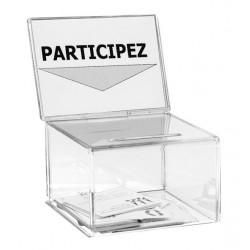 Visuel de la petite urne pour jeux concours avec porte affiche - 200 bulletins - Leader Equipements