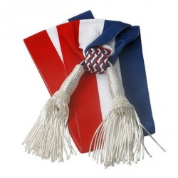 Visuel de l'Écharpe tricolore pour Adjoint avec glands poires argentés - Leader Equipements
