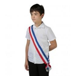 Acheter une écharpe ruban tricolore neutre pour le jeune élu - Leader Equipements