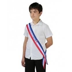 Achetez écharpe ruban tricolore CME imprimée Conseil municipal des Enfants - Leader Equipements