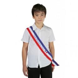 Visuel de l'Écharpe tricolore imprimée texte Conseil Municipal des Jeunes pour enfants - Leader Equipements
