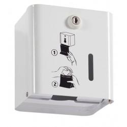 Distributeur simple de sachets pour protections hygiéniques - Blanc - Leader Equipements
