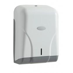 Visuel du bloc distributeur en ABS blanc pour 400 feuilles de papier essuie-mains - Leader Equipements